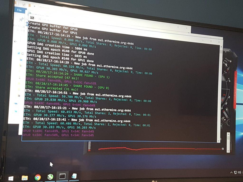 ethereum mining ethermine-test-2-gpus